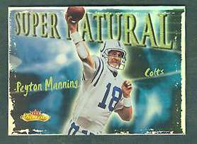2000 Fleer Showcase FB 'SUPER NATURAL' - Complete 10-card Insert Set Football cards value