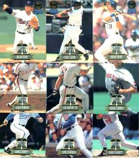 1993 Leaf 'HEADING for the HALL' - Complete 10-card Insert Set Baseball cards value