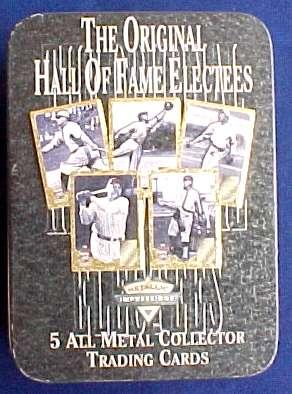 1996 Metallic Impressions TIN SET - Original 5 HALL-OF-FAMERS Baseball cards value