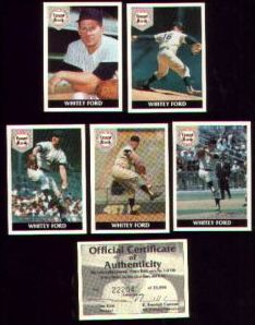 Front Row - 1992 WHITEY FORD - Lot of (10) Complete 5-card Sets (Yankees Baseball cards value