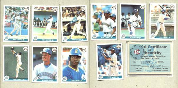 Front Row - 1991 KEN GRIFFEY JR - Lot of (5) Complete 10-card Sets Baseball cards value