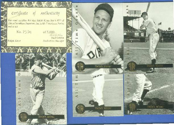 Front Row - 1992 RALPH KINER - Lot of (10) Complete 5-card Sets (Pirates Baseball cards value