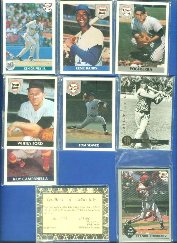 1991  -1992 Front Row - LOT OF (6) different COMPLETE SETS Baseball cards value