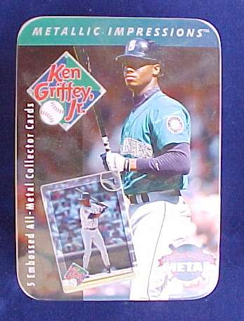 1996 Metallic Impression TIN SET - KEN GRIFFEY Jr. (Mariners) Baseball cards value