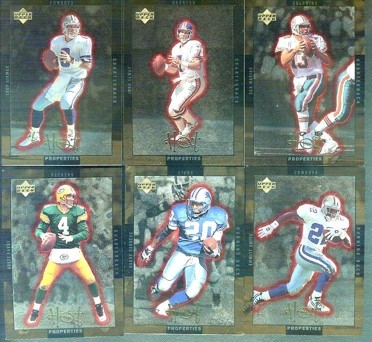 1996 Upper Deck GOLD HOT PROPERTIES - COMPLETE 20-card SCARCE insert SET Football cards value