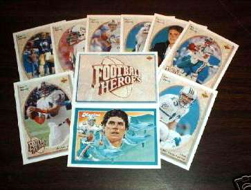 1992 Upper Deck - DAN MARINO HEROES Complete Set w/SCARCE HEADER card Football cards value