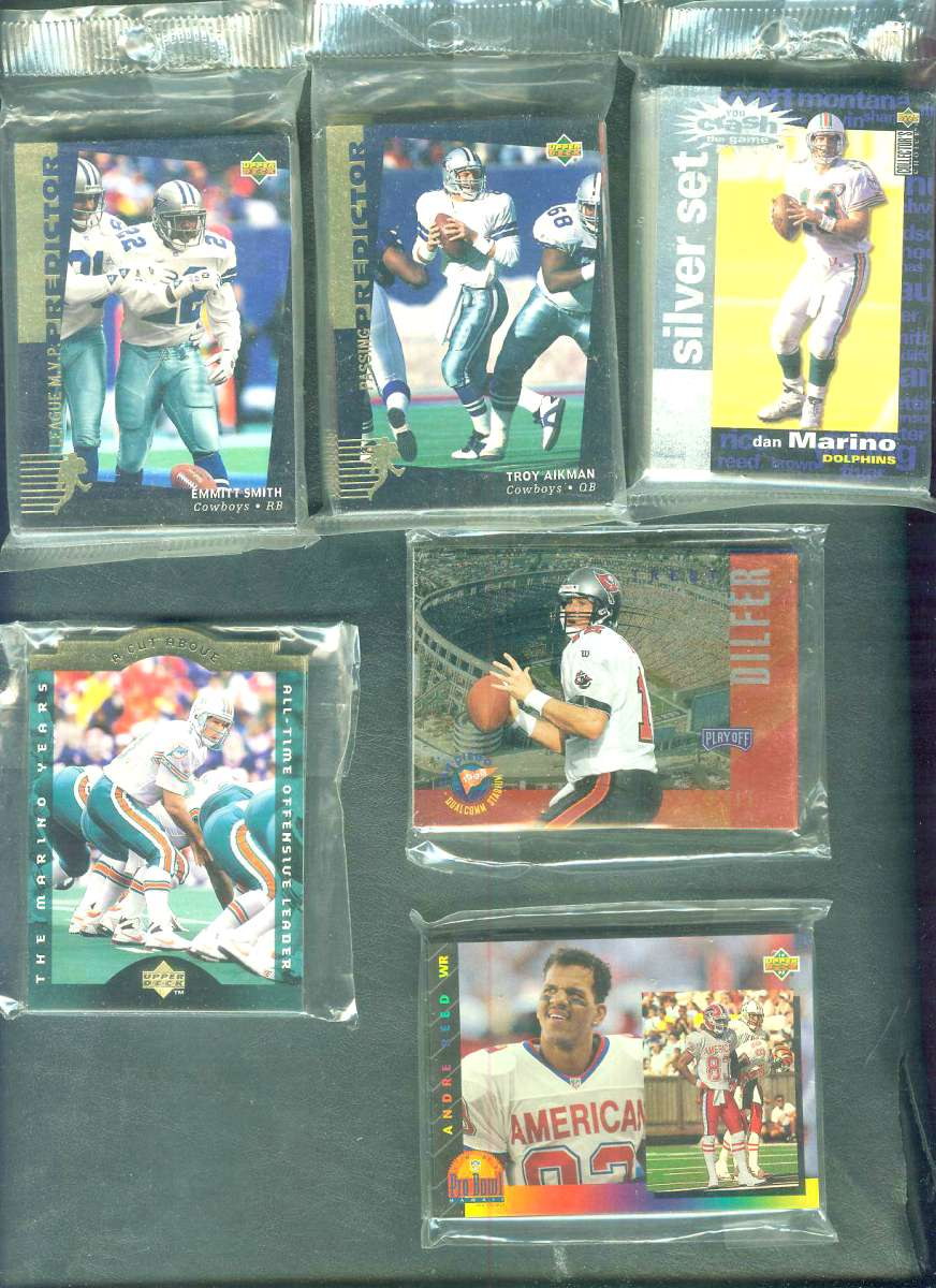 1994 Upper Deck FOOTBALL - 'PREDICTOR LEAGUE LEADERS' 'R' set (30 cards) Football cards value