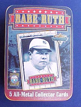 1994 Metallic Impressions - BABE RUTH Tin Set Baseball cards value