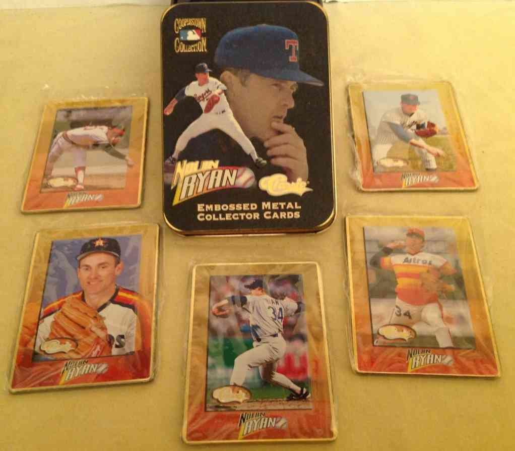Metallic Impressions - NOLAN RYAN 1995 Complete Set of (5) Metal cards Baseball cards value