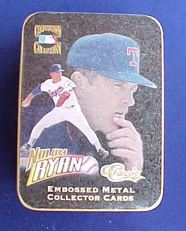 NOLAN RYAN - Cooperstown Collection EMBOSSED METAL COLLECTOR CARDS TIN SET Baseball cards value