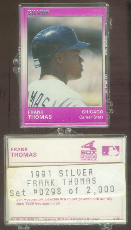 Frank Thomas - 1991 Star Company SILVER Complete Set (White Sox) Baseball cards value