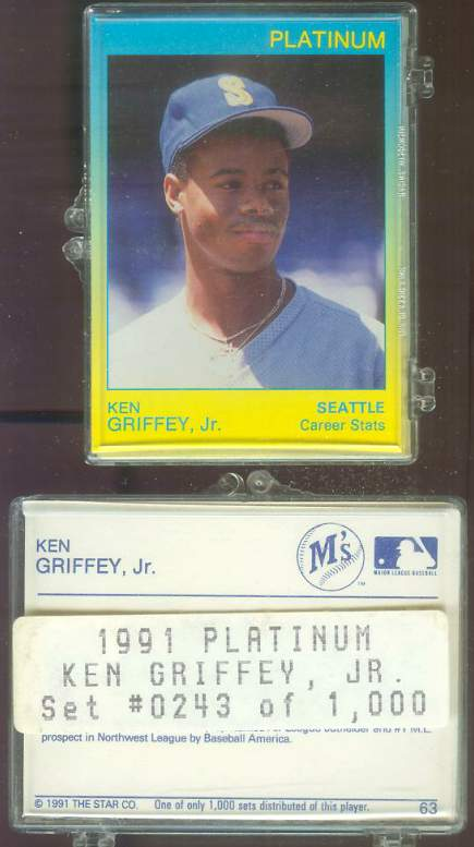 Ken Griffey Jr - 1991 Star Company PLATINUM Complete Set (Mariners) Baseball cards value