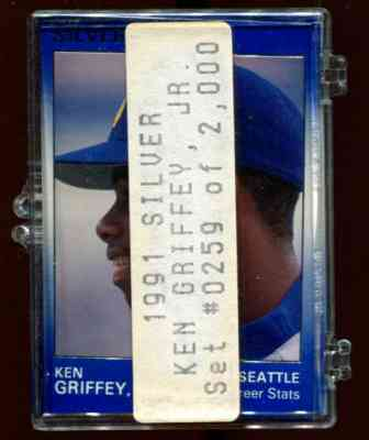 Ken Griffey Jr - 1991 Star Company SILVER Complete Set (Mariners) Baseball cards value