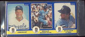 George Brett - 1984 Star Company Complete 24-card Set (COMPLETE PANELS) Baseball cards value