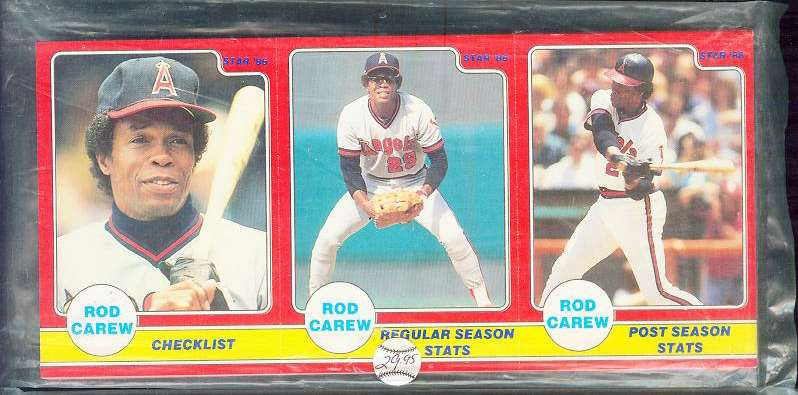 Rod Carew - 1986 Star Company Complete 24-card Set (COMPLETE PANELS) Baseball cards value