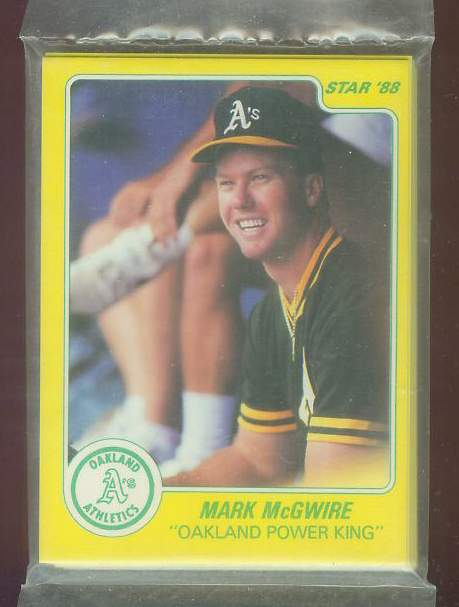 Mark McGwire - 1988 Star Company GLOSSY Complete SET (A's) Baseball cards value