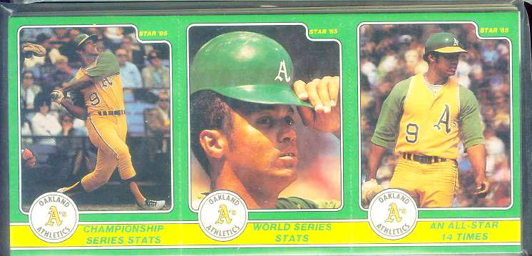 Reggie Jackson - 1985 Star Company Complete 36-card Set Baseball cards value