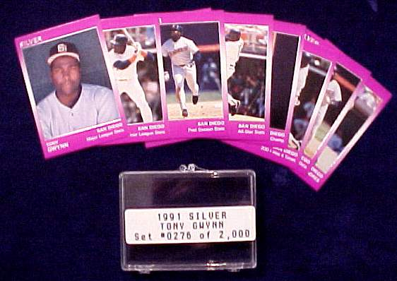 Tony Gwynn - 1991 Star Company SILVER Complete Set (9 cards) Baseball cards value