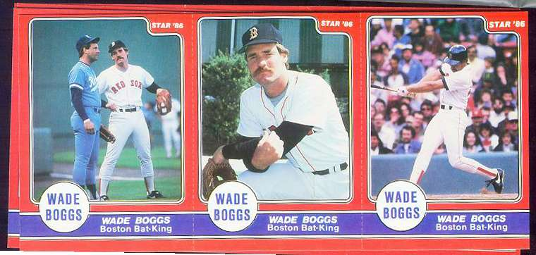 Wade Boggs - 1986 Star Company Complete 24-card RED set (Red Sox) Baseball cards value