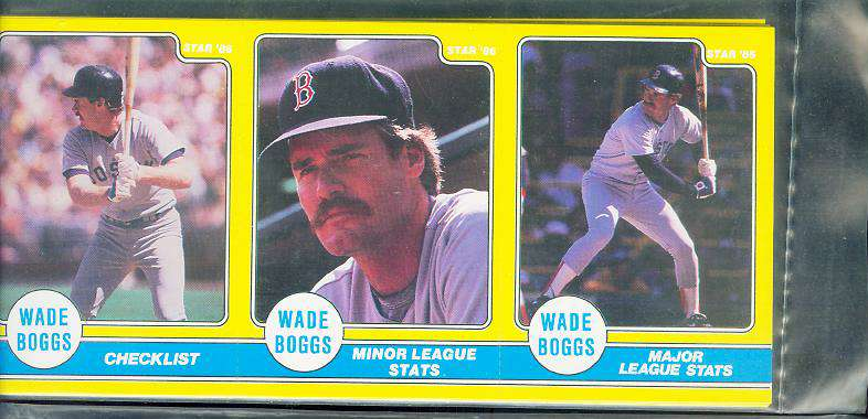 Wade Boggs - 1986 Star Company Complete 24-card Stickers YELLOW set Baseball cards value