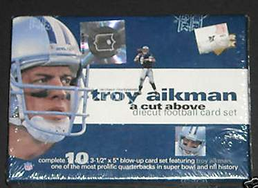 1997 Upper Deck TROY AIKMAN - Factory Sealed JUMBO BOXED SET Football cards value