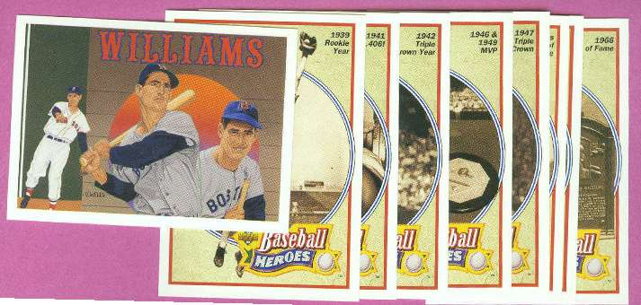1992 Upper Deck - TED WILLIAMS HEROES 9-card Set (no header card) Baseball cards value