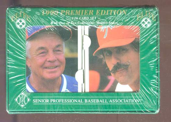 1990 Elite SENIOR Professional Baseball - Complete Factory Set (126 cards) Baseball cards value