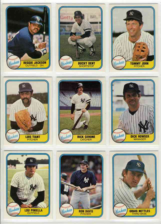 1981 Fleer Baseball Cards Set Checklist Prices Values Information