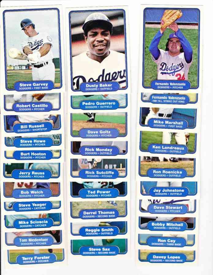 1982 Fleer Baseball Cards Set Checklist Prices Values Information