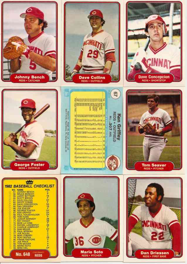 1982 Fleer Baseball Cards Set Checklist Prices Values