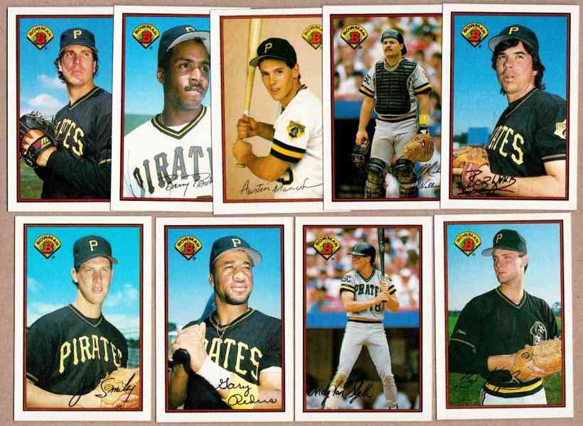 PIRATES (18) - 1989 Bowman TIFFANY COMPLETE TEAM Set Baseball cards value