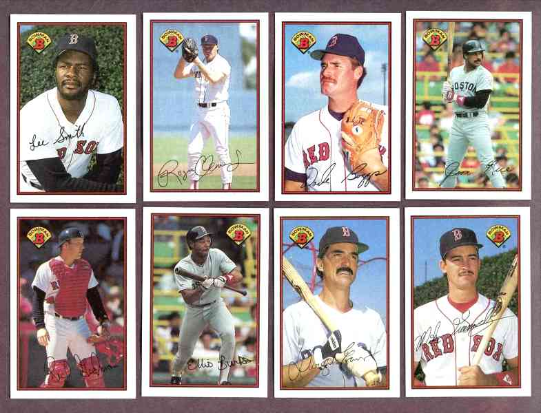 RED SOX (18) - 1989 Bowman TIFFANY COMPLETE TEAM Set Baseball cards value