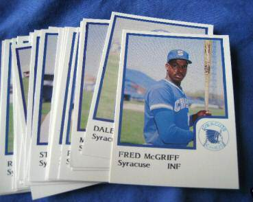 1986 ProCards SYRACUSE CHIEFS (27) Complete TEAM SET (minor league) Baseball cards value