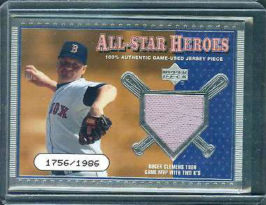 Roger Clemens - 2001 Upper Deck All-Star Heroes GAME-USED JERSEY #ASH-RC Baseball cards value