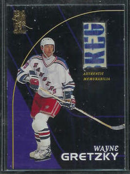 WAYNE GRETZKY - 1998 Be a Player GAME-USED STICK (Rangers) Baseball cards value