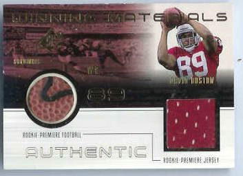 David Boston - 1999 SPx Winning Materials #DB-S DUAL GAME-USED BALL/JERSEY Baseball cards value