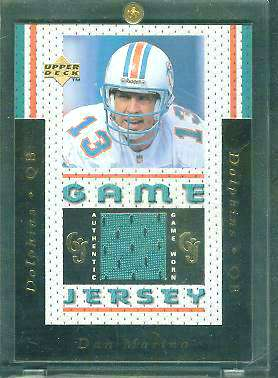 DAN MARINO - 1996 Upper Deck GAME-USED TEAL JERSEY (Dolphins) Baseball cards value