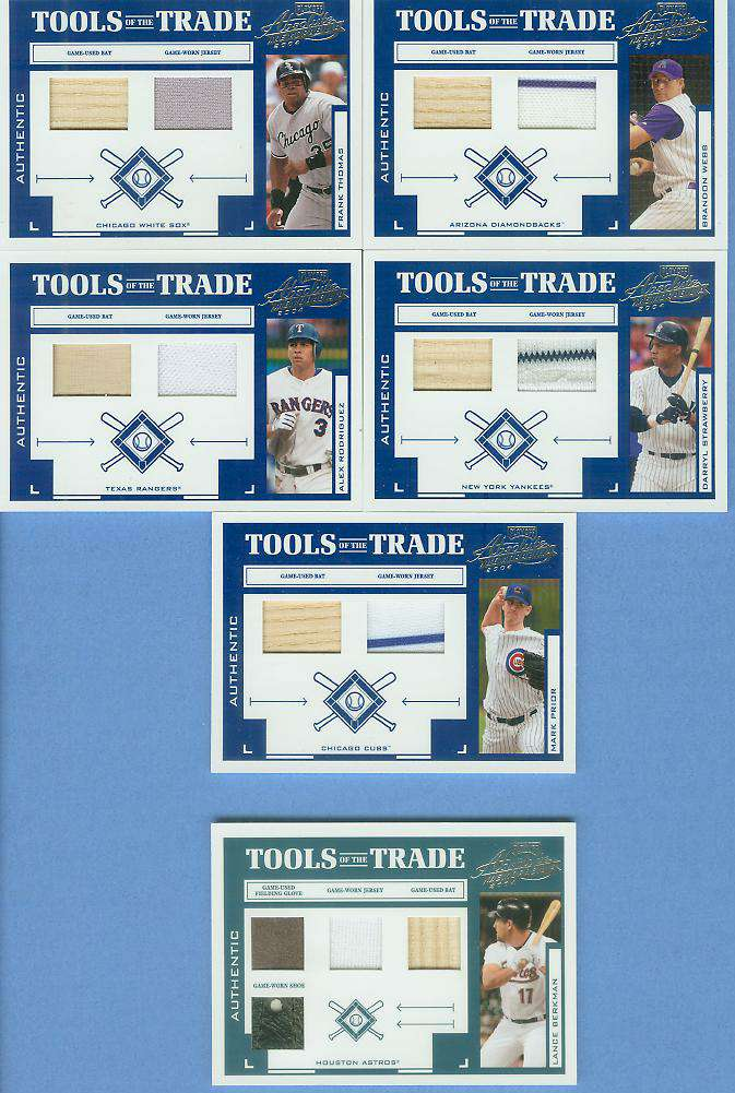 Darryl Strawberry - 2004 Playoff 'Tools...Trade' GAME-USED BAT & JERSEY Baseball cards value