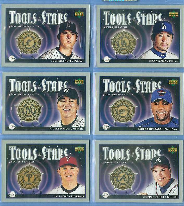 Hideki Matsui - 2004 UD Playball 'Tools of the Stars' GAME-USED BAT Baseball cards value