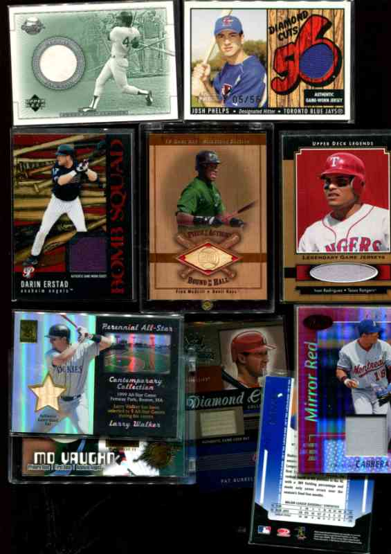 GAME-USED BAT/JERSEY cards - Lot (26) PACKED with STARS & LIMITED #'d! Baseball cards value