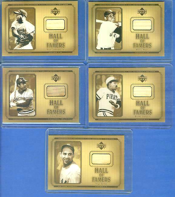 Roy Campanella - 2001 UD Hall of Famers - GAME-USED BAT #B-RCA (Dodgers) Baseball cards value