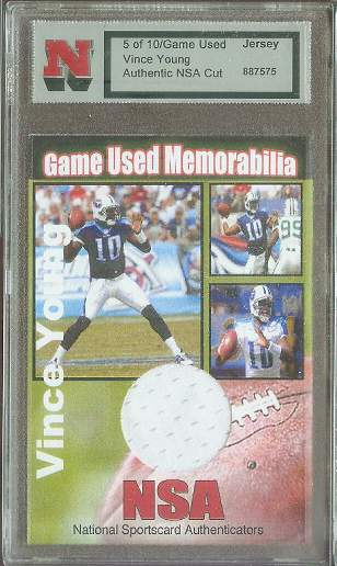 Vince Young - 2007 NSA Game-Used JERSEY (RARE - ONLY 10 MADE !!!) Baseball cards value