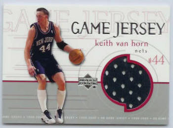 Keith Van Horn - 1999-00 Upper Deck GAME-USED JERSEY #GJ39 (Nets) Baseball cards value