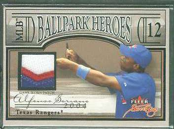 Alfonso Soriano - 2004 Fleer Sweet Sigs 'Heroes' GAME-USED JERSEY PATCH Baseball cards value