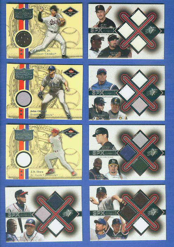 TRIPLE - 2001 SPx 'Winning Materials' (w/Hideo Nomo) GAME-USED JERSEYS Baseball cards value