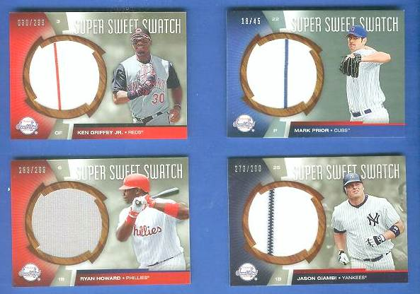Ken Griffey Jr - 2006 UD Sweet Spot 'SUPER SWEET SWATCH' GAME-USED JERSEY Baseball cards value
