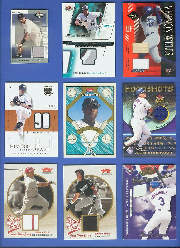 Vernon Wells - 2003 Leaf Limited 'TNT' COMBO GAME-USED BAT & JERSEY Baseball cards value