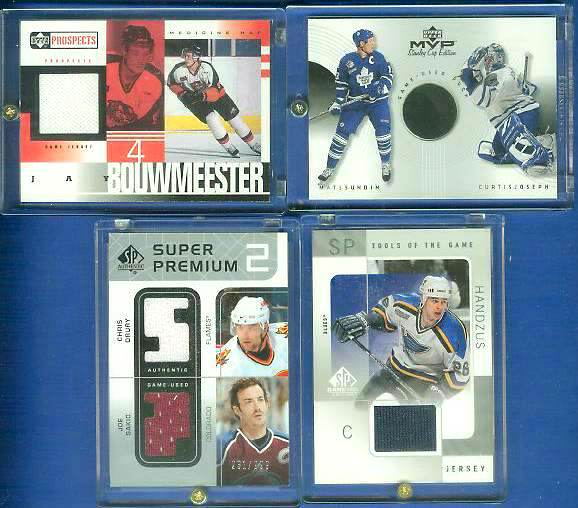 Joe Sakic - 2002-03 UD SPA SUPER PREMIUMS #DPDS DUAL GAME-USED JERSEY Baseball cards value