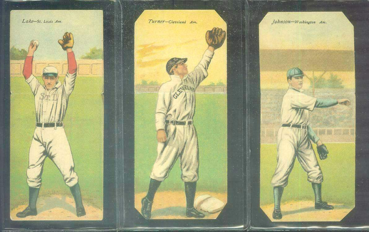 1911 Mecca Double Folders T201 #xx Walter Johnson/Charles Street (Senators) Baseball cards value