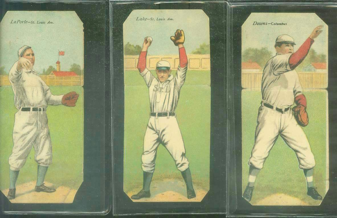 1911 Mecca Double Folders T201 #xx Jerry Downs/Fred Odwell (Columbus) Baseball cards value